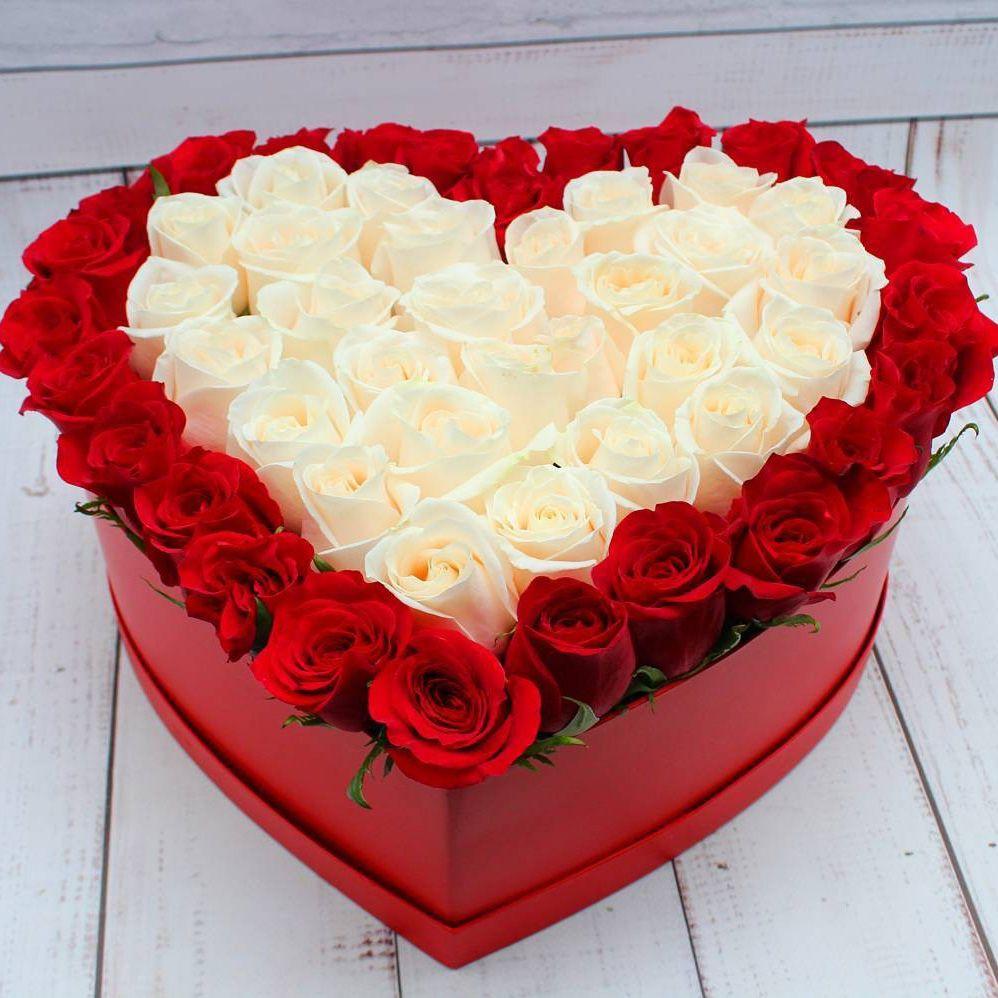 Купить Розы на 14 февраля в коробке model №5245